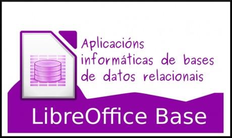 Aplicacións informáticas de bases de datos relacionais. LibreOffice Base (UF0322 Competencias dixitais en ofimática)